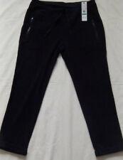 New Womens Black Calvin Klein Performance Stretch Micro Fleece Sweatpants Size.L