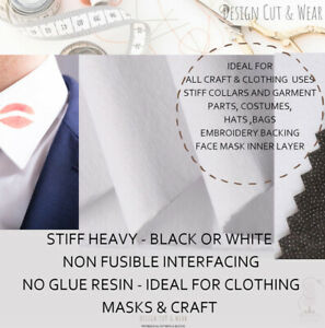 1055H - NON FUSIBLE INTERFACING - STIFF & HEAVY - IDEAL FOR CLOTHING & CRAFTS