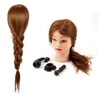 "26"" 30% Real Human Hair Salon Hairdressing Training head Mannequin Doll &Clamp"