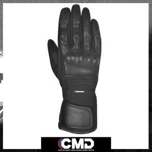 Oxford Calgary 1.0 Ladies Waterproof Leather Textile Mixed Gloves Stealth Black