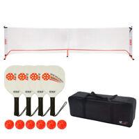 Pro Portable Pickleball Set with Net, 4 Pickleball Paddles & 6 Pickleball Balls
