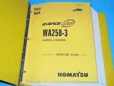 Komatsu WA250-3 WA250-3MC Parts Book Wheel Loader