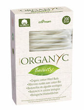ORGANYC BEAUTY ORGANIC COTTON WOOL BUDS 200pcs - FREE UK SHIPPING