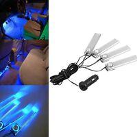 12V LED Auto Charge 4 in1 Atmosphäre LED Lampe Licht Blau Auto Zubehör Neu
