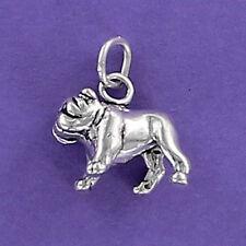 Bulldog Charm Sterling Silver for Bracelet Large Churchill Mascot English Muscle