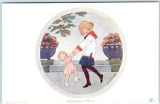 """WILLEBEEK LE MAIR  Artist Signed  """"RING-A-RING OF ROSES""""    Postcard"""