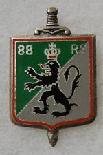 88 RS - ORIGINAL Vintage FRENCH ARMY BADGE DISTINCTIVE UNIT INSIGNIA