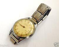 Vintage Estia Antimagnetic Wrist Watch 15 Ruby Jewels Swiss Made Steel Parts Fix