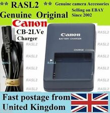 Genuino Original Canon charger,cb-2lve Nb-4l Ixus 50 55 60 65 70 75 80 100 es