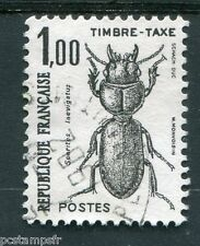 FRANCE 1982, timbre TAXE 106, INSECTES, SCARITES LAEVIGATUS, oblitéré