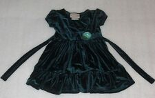 Toddler Girls Green Velour Holiday Dress or Party Dress Size 2T