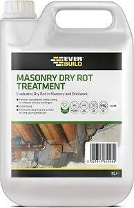 EVERBUILD MASONRY DRY ROT TREATMENT 5 LITRE FUNGUS INTERNAL OR EXTERNAL
