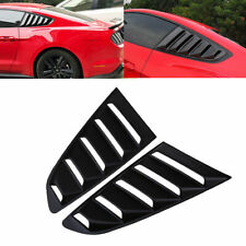 1 Pair Side Window Scoop Louver Cover Trim for Ford Mustang Fastback 2015-2018