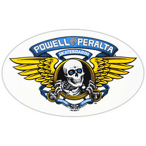 "Powell Peralta Skateboard Sticker Winged Ripper Blue 6.5"""