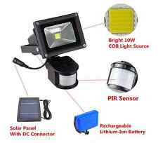 10W Bright Solar Powered LED Flood Light With PIR Motion Sensor Outdoor Garden
