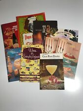 Lot of 9 50s1960s 70s Vintage Cocktail Liquor Wine Recipe Booklet Early Times