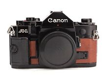 Canon A-1 Replacement Cover - Laser Cut Recycled Leather - Vintage