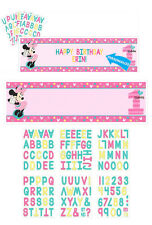 Minnie 1ST Birthday Party Supplies PERSONALISED PLASTIC BANNER New Design