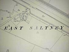 Old Antique Ordnance Map 1911 Flintshire XV.1 Chester East Saltney & Thornleigh.