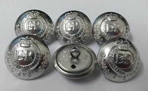 Genuine British Army Issue No1 / No2 Dress Royal Engineers Silver Buttons 40L