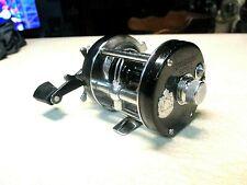 ABU GARCIA AMBASSADEUR FISHING REEL - BLACK 6000-C - CLEAN & WORKS GOOD