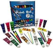 36 Piece Christmas Paint Set & Brushes Children's Kids Paints 36ml tubes XMAS