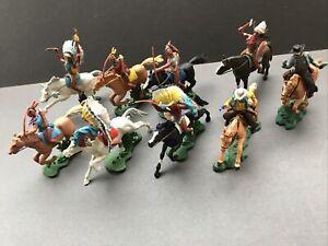 Britains Swoppet Mounted Indians & Cowboys Rare Original Examples Great Job Lot