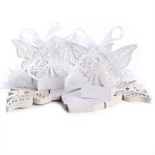 20 pz Grande farfalla Scatola caramella dolci Per battesimo di nozze D4V1