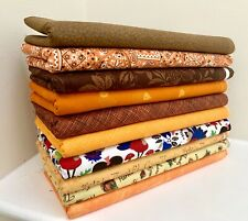 Fat Quarter FQ Bundle 100% Cotton Thanksgiving Orange Brown Quilting Fabric