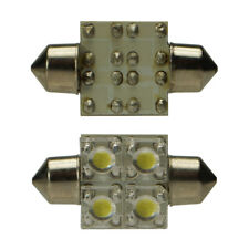 Soffitte 34mm Gold amarillo KFZ SuperFlux 4 LED 2 trozo lámpara pera Festoon