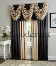 Hyatt Window Curtain & Valance Treatments - Assorted Colors & Styles