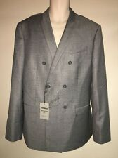 Express Blazer Suit Jacket Gray Photographer Fitted Mens 44 Long NWT $298