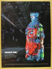 2001 Absolut PAIK Nam June Paik electronic neon sculpture photo vintage print Ad