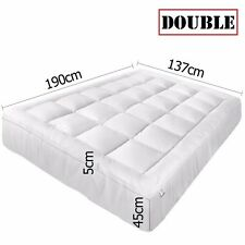 Pillowtop Mattress Topper Memory Resistant Protector Pad Cover Double 1000gsm