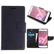 Mooncase Black Wallet Case Cover for Motorola Moto X4