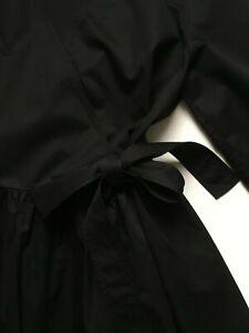 Kimono Wickelkleid Schwarz COS 🏮 M 38 Japanisch Petticoat Schnürkleid