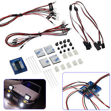 No Solder Realistic Highlight 12 LED Lighting Kit System for RC Car Truck 1/10th