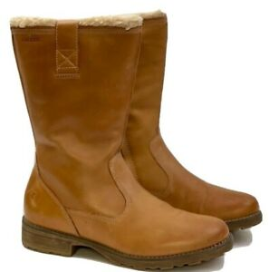 GEOX Leather Tan Brown Sherpa Lined  Boots  UK5 EUR38 RRP £150 *PERFECT*
