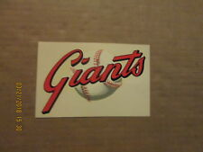 MLB San Francisco Giants Vintage Circa 1960's Team Logo Baseball Water Decal