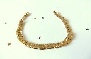 MEN'S  9ct Yellow Gold Plate Bracelet