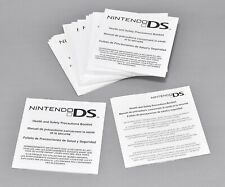 Nintendo DS Health and Safety Precautions Boolet Lot of 22 Genuine OEM P5