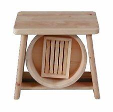 Japanese Hinoki Cypress bath set Wood Bath Stool Chair & Oke Set Japan F/S