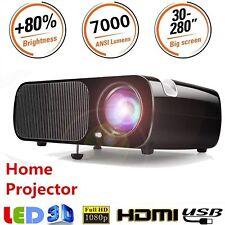 7000LM 1080P Full HD 3D Wifi LED Micro 4K Projector Home Theater HDMI VGA USB
