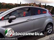 modanature cornici cromate sotto Finestrini Ford Fiesta dal 2008 Cromati inox