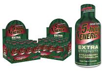 5 Hour Energy EXTRA Strength - Case 24 Bottles - STRAWBERRY WATERMELON 1.93oz