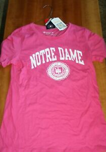 Notre Dame Women`s Pink Shirt by Champion size M