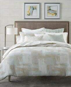 $420.00 Hotel Collection Cotton Textured Brushstroke King Duvet Cover