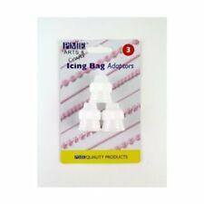 PME 3 Pk Icing Adaptor Coupler Baking Piping Bags Tubes Nozzles Sugarcraft Cake