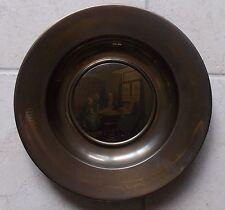 Assiette Cuivre 35cm Art Populaire Décoration Weeshuis David A.C. Artz TBE