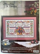 """Bucilla Counted Cross Stitch """"To Everything a Season Sampler"""" Kit #1705 NEW"""